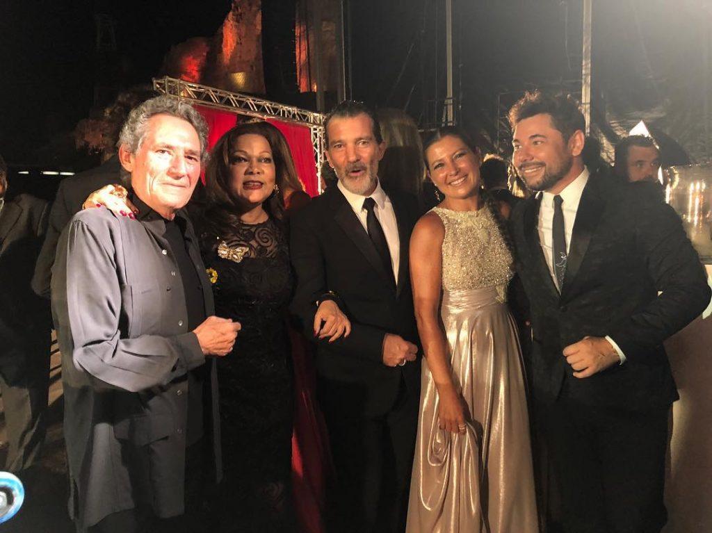 Sara Baras, Antonio Banderas, Miguel Poveda, Angela Carrasco y Miguel Rios en Starlite Gala