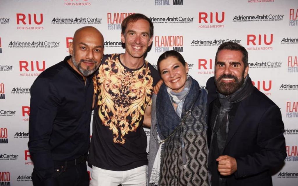 Sara Baras en Miami junto al Director del Flamenco Festival Enrique Marín